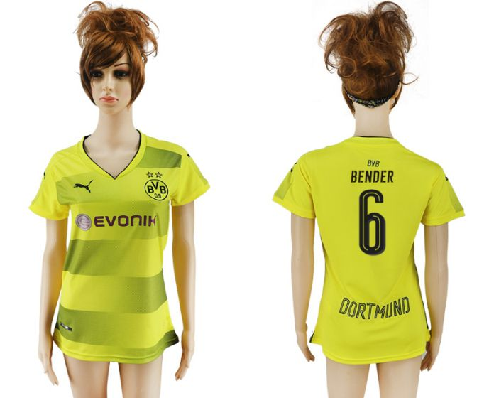 2017-2018 Club Dortmund home aaa verion women 6 soccer jersey