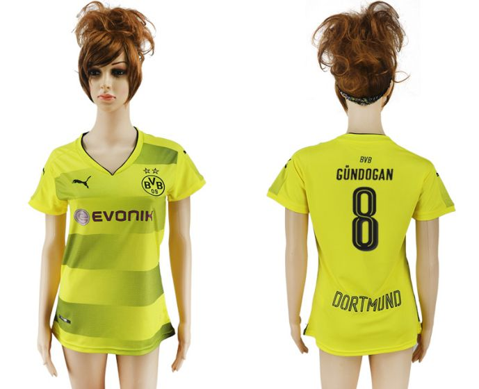 2017-2018 Club Dortmund home aaa verion women 8 soccer jersey