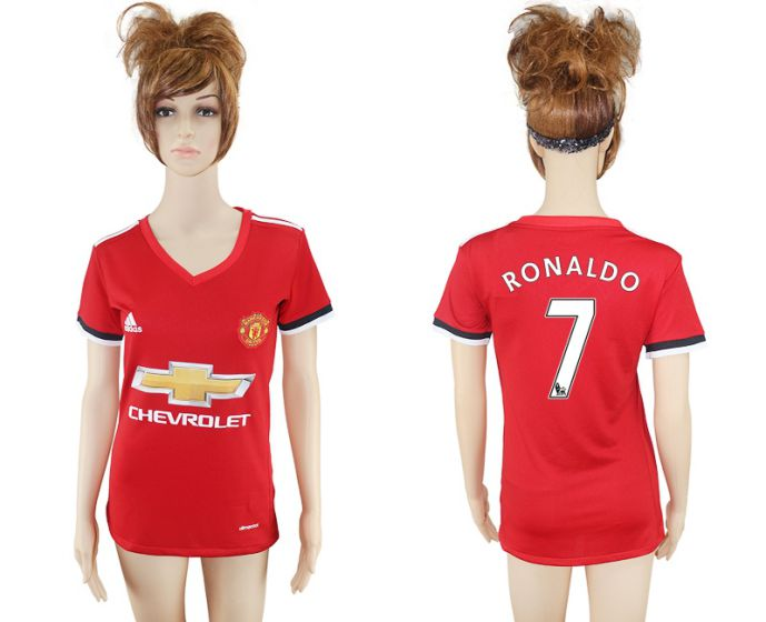 2017-2018 Club Mancheter United home aaa verion women 7 Ronaldo soccer jersey