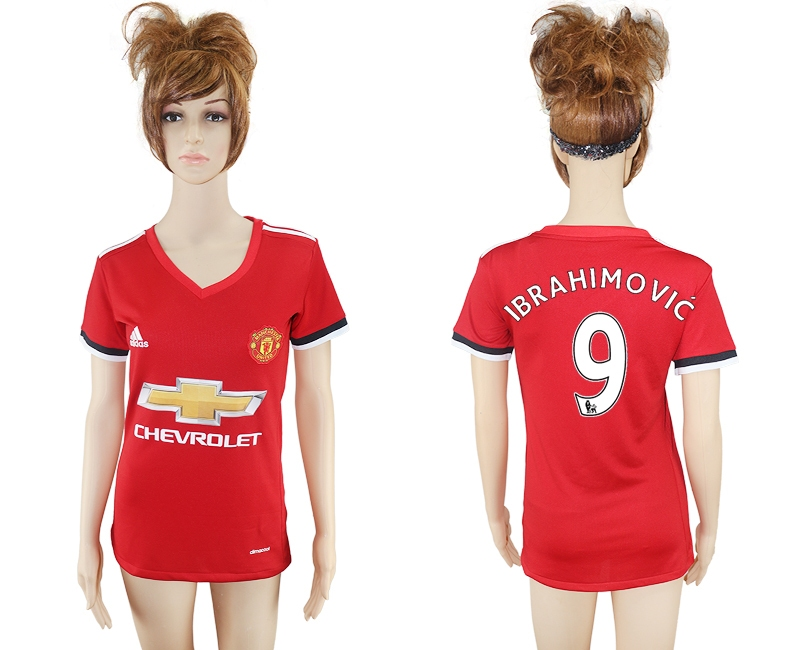 2017-2018 Club Mancheter United home aaa verion women 9 soccer jersey