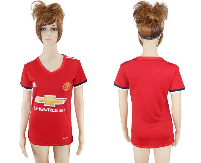 2017-2018 Club Mancheter United home aaa verion women soccer jersey