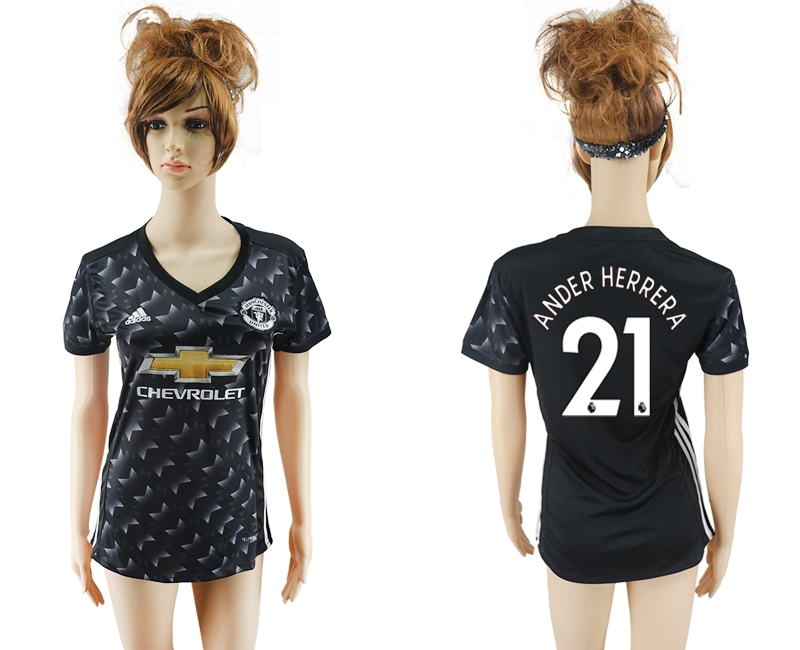 2017-2018 Club Mancheter united away aaa verion women 21 soccer jersey