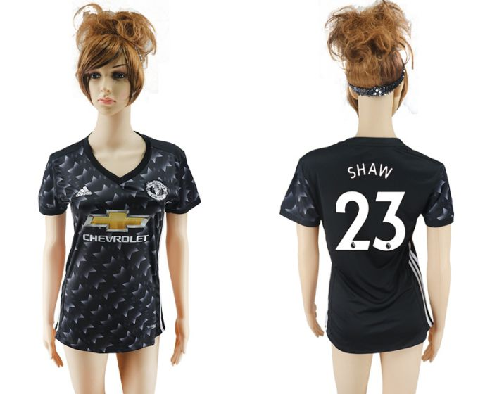 2017-2018 Club Mancheter united away aaa verion women 23 soccer jersey
