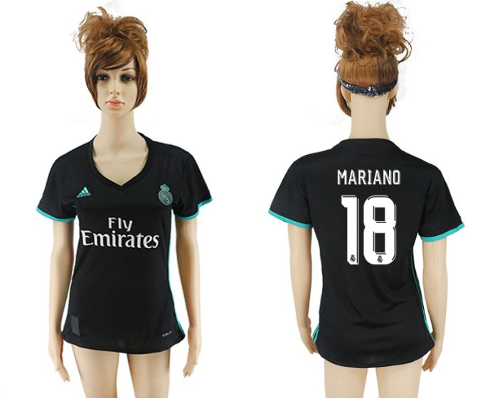 2017-2018 Club Real Madrid away aaa verion women 18 soccer jersey