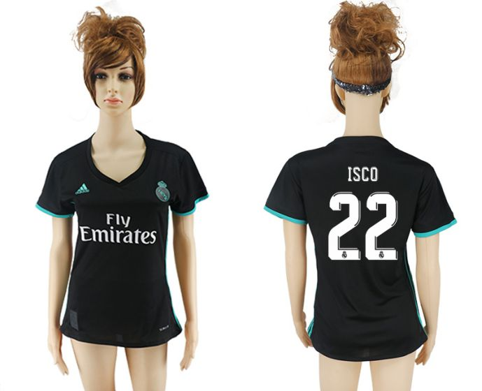 2017-2018 Club Real Madrid away aaa verion women 22 soccer jersey