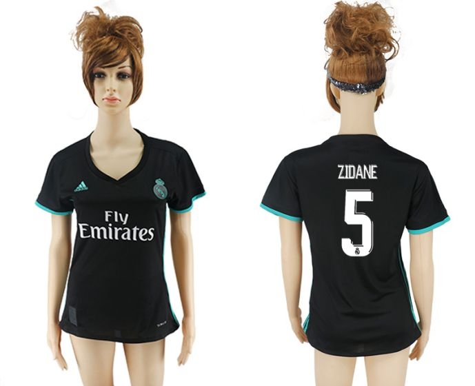 2017-2018 Club Real Madrid away aaa verion women 5 Zidane soccer jersey