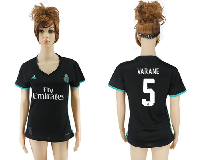 2017-2018 Club Real Madrid away aaa verion women 5 soccer jersey