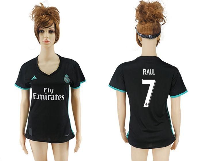 2017-2018 Club Real Madrid away aaa verion women 7 Raul soccer jersey