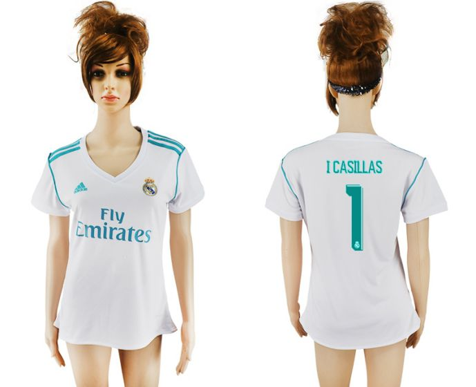 2017-2018 Club Real Madrid home aaa verion women 1 white soccer jersey