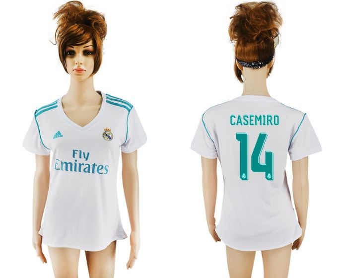2017-2018 Club Real Madrid home aaa verion women 14 soccer jersey