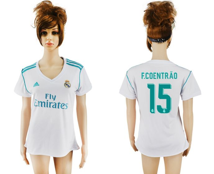 2017-2018 Club Real Madrid home aaa verion women 15 soccer jersey