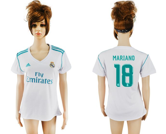 2017-2018 Club Real Madrid home aaa verion women 18 soccer jersey