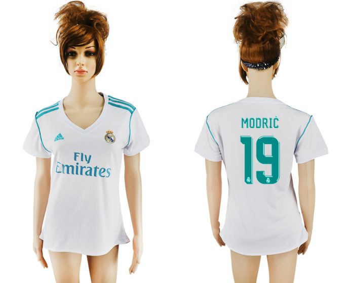 2017-2018 Club Real Madrid home aaa verion women 19 soccer jersey