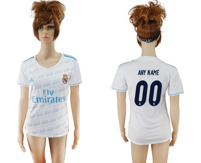 2017-2018 Club Real Madrid home aaa verion women cutomized(1) soccer jersey