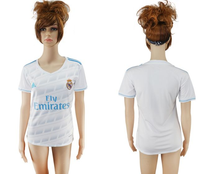 2017-2018 Club Real Madrid home aaa verion women(1) soccer jersey