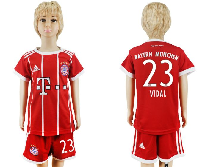 2017-2018 club Bayern Munich home kids 23 soccer jersey