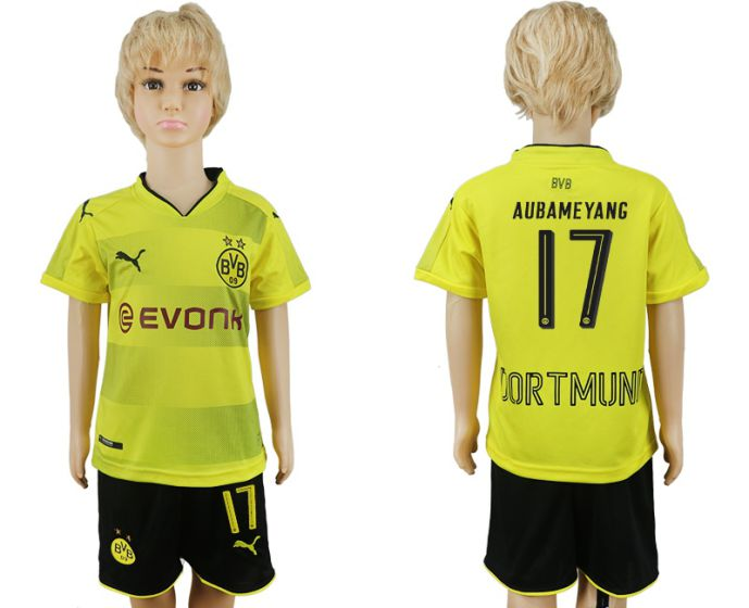2017-2018 club Dortmund home kids 17 soccer jersey