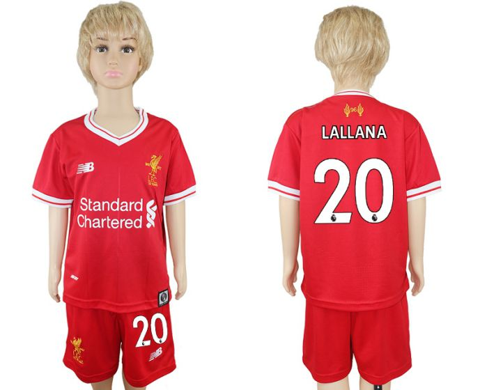 2017-2018 club Liverpool home kids 20 soccer jersey