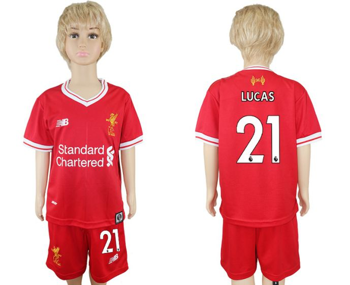 2017-2018 club Liverpool home kids 21 soccer jersey