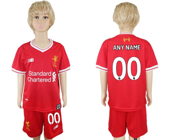 2017-2018 club Liverpool home kids customized soccer jersey