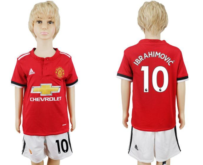 2017-2018 club Manchester United home youth 10 soccer jersey