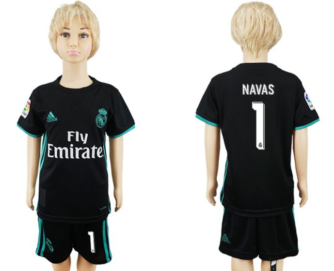2017-2018 club Real Madrid away kids 1 soccer jersey