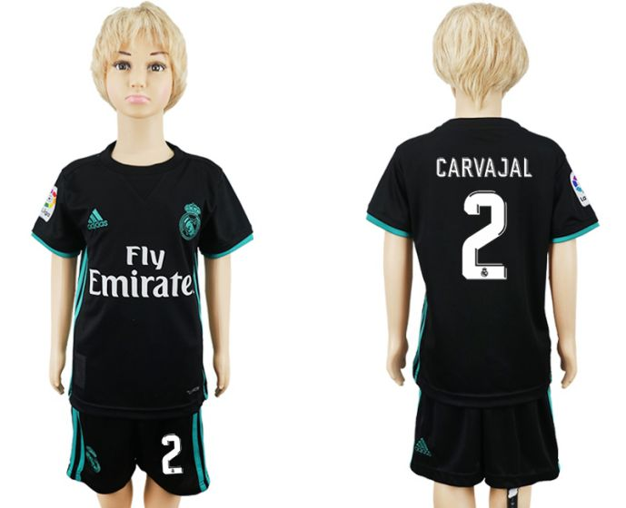 2017-2018 club Real Madrid away kids 2 soccer jersey