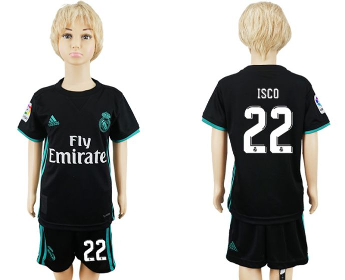 2017-2018 club Real Madrid away kids 22 soccer jersey
