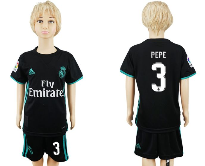 2017-2018 club Real Madrid away kids 3 soccer jersey
