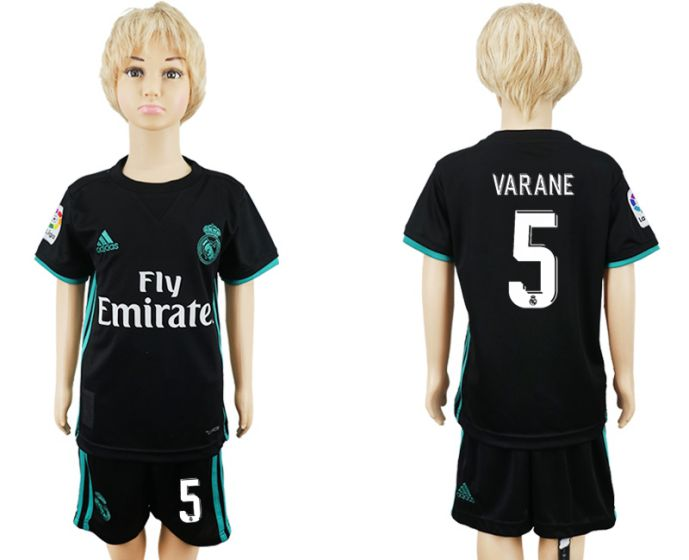2017-2018 club Real Madrid away kids 5 soccer jersey