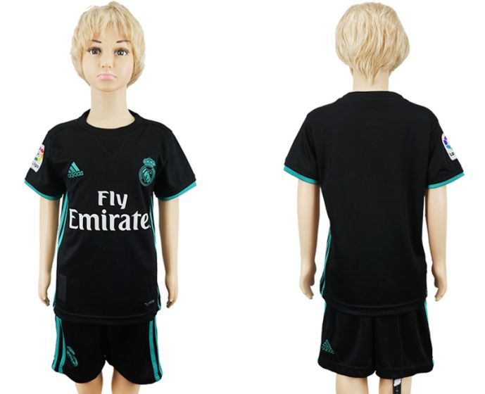 2017-2018 club Real Madrid away kids soccer jersey