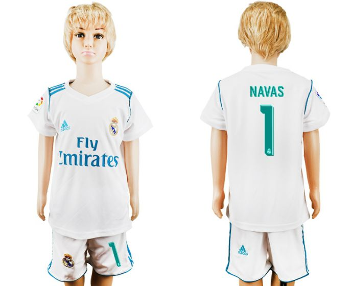 2017-2018 club Real Madrid home kid 1 soccer jersey