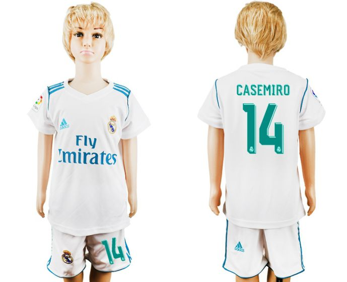 2017-2018 club Real Madrid home kid 14 soccer jersey