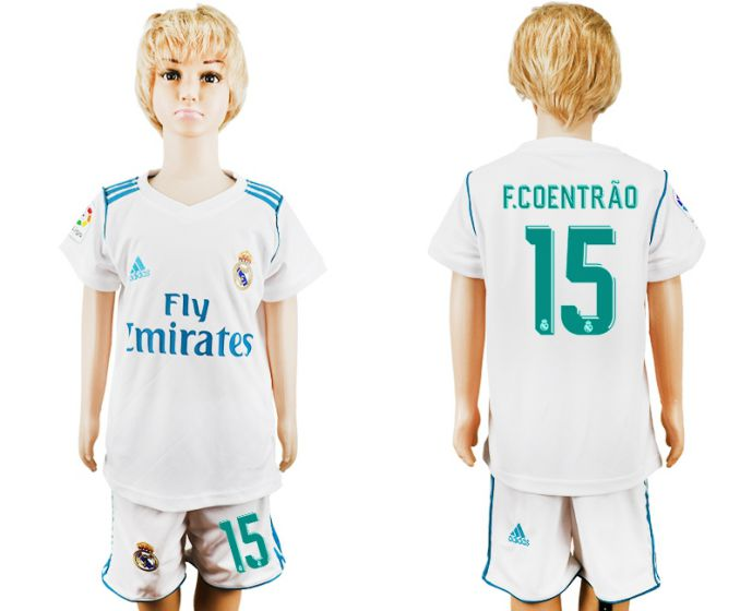2017-2018 club Real Madrid home kid 15 soccer jersey