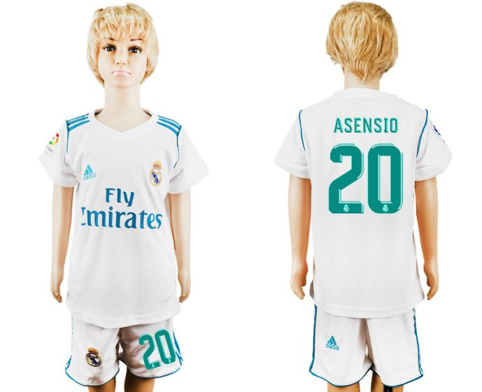 2017-2018 club Real Madrid home kid 20 soccer jersey