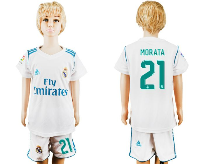 2017-2018 club Real Madrid home kid 21 soccer jersey