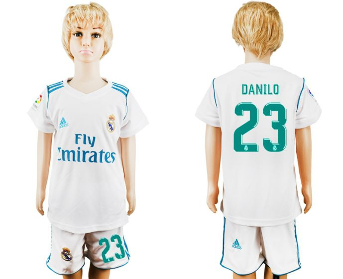 2017-2018 club Real Madrid home kid 23 soccer jersey