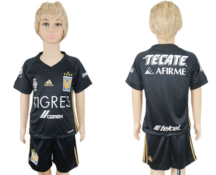 2017-2018 club Tigres UANL away kids soccer jersey