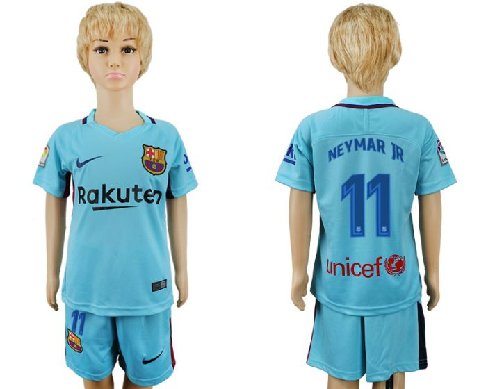 2017-2018 club barcelona aeay enfants 11 maillot de football