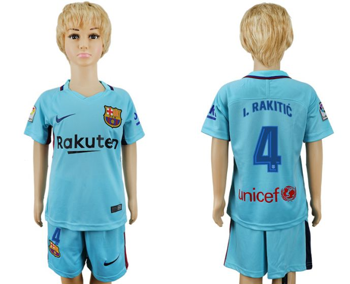 2017-2018 club barcelona aeay enfants 4 maillot de football