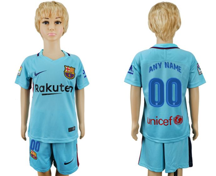 2017-2018 club barcelona aeay enfants sur mesure maillot de football