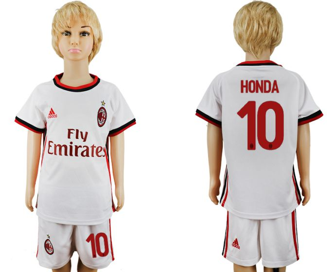 2017-2018 club youth AC Milan away 10 soccer jersey