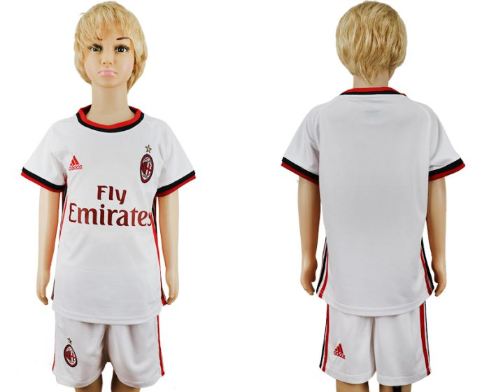 2017-2018 club youth AC Milan away kids soccer jersey