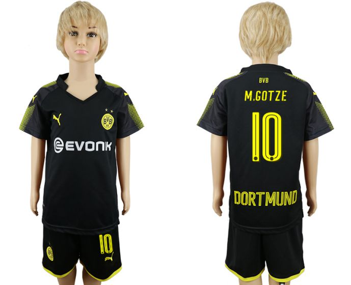 2017-2018 club youth Dortmund away 10 soccer jersey