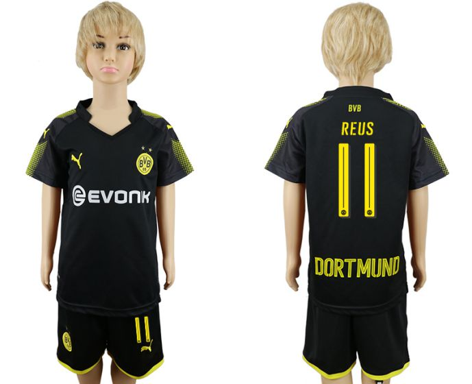 2017-2018 club youth Dortmund away 11 soccer jersey