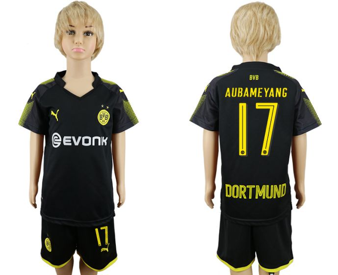 2017-2018 club youth Dortmund away 17 soccer jersey
