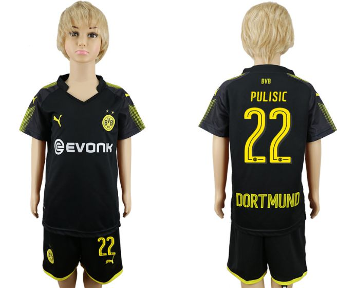 2017-2018 club youth Dortmund away 22 soccer jersey