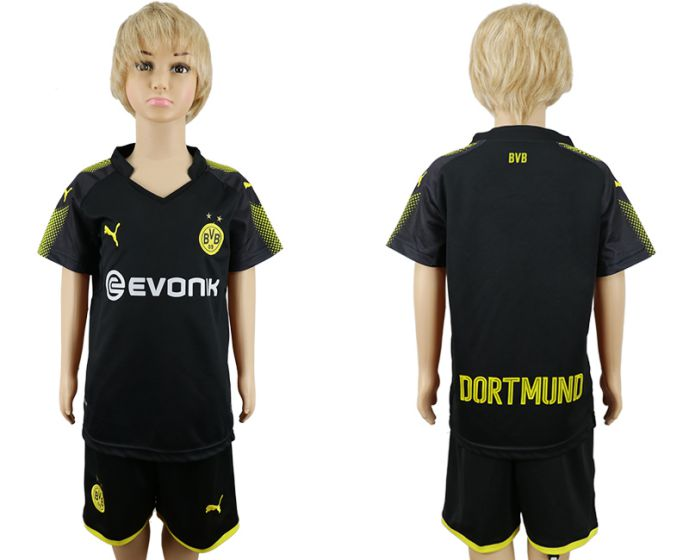 2017-2018 club youth Dortmund away kids soccer jersey