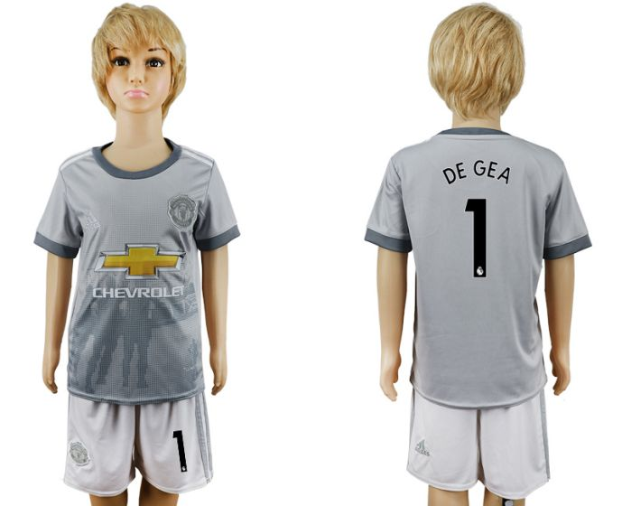 2017-2018 club youth Manchester United away 1 soccer jersey