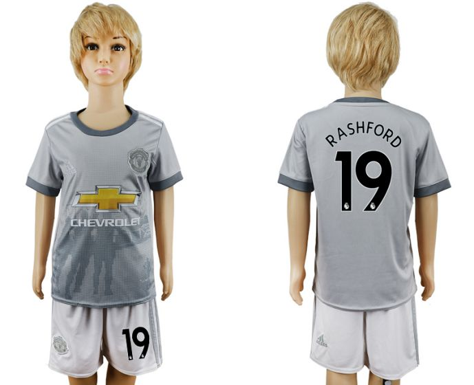 2017-2018 club youth Manchester United away 19 soccer jersey